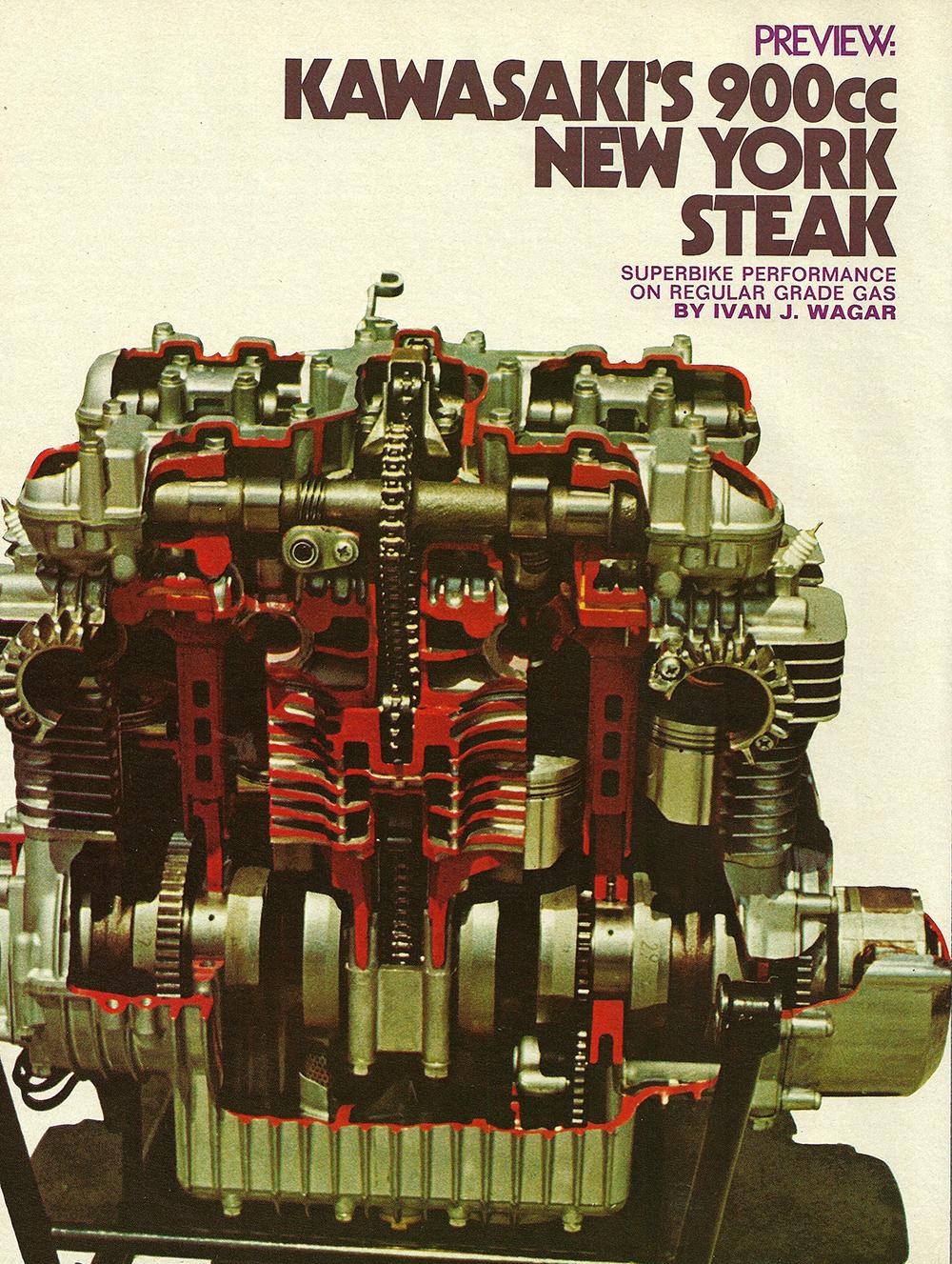 1972 Kawasaki Z1 900 New York Steak road test 01.jpg