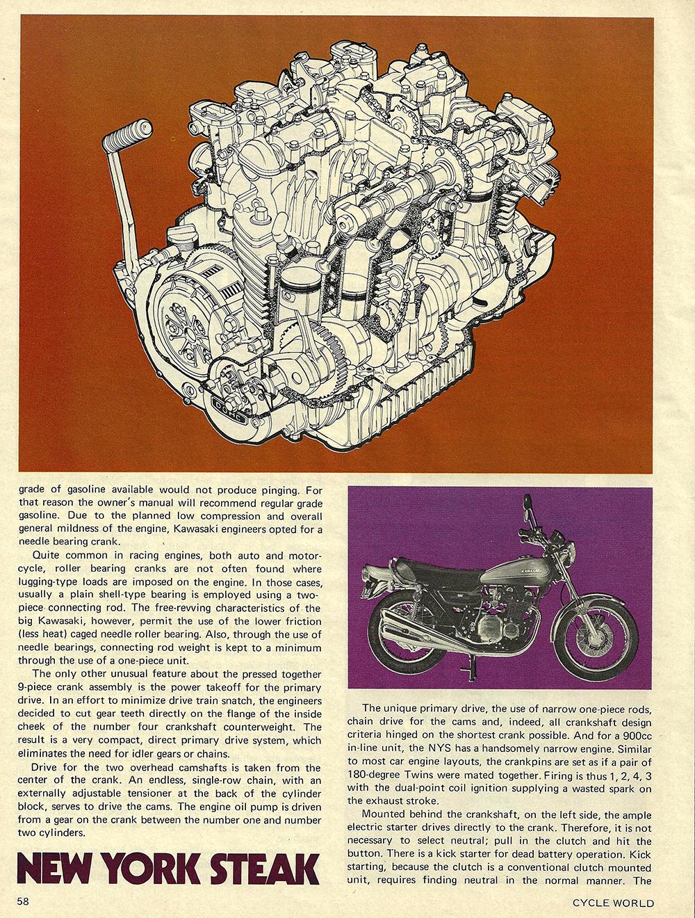 1972 Kawasaki Z1 900 New York Steak road test 03.jpg