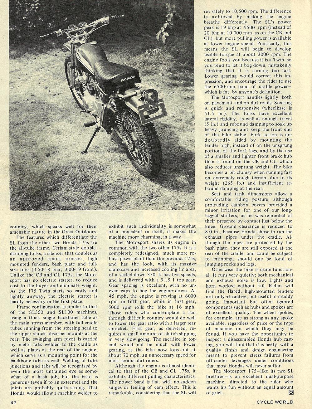 1970 Honda SL175 Motosport road test 02.jpg