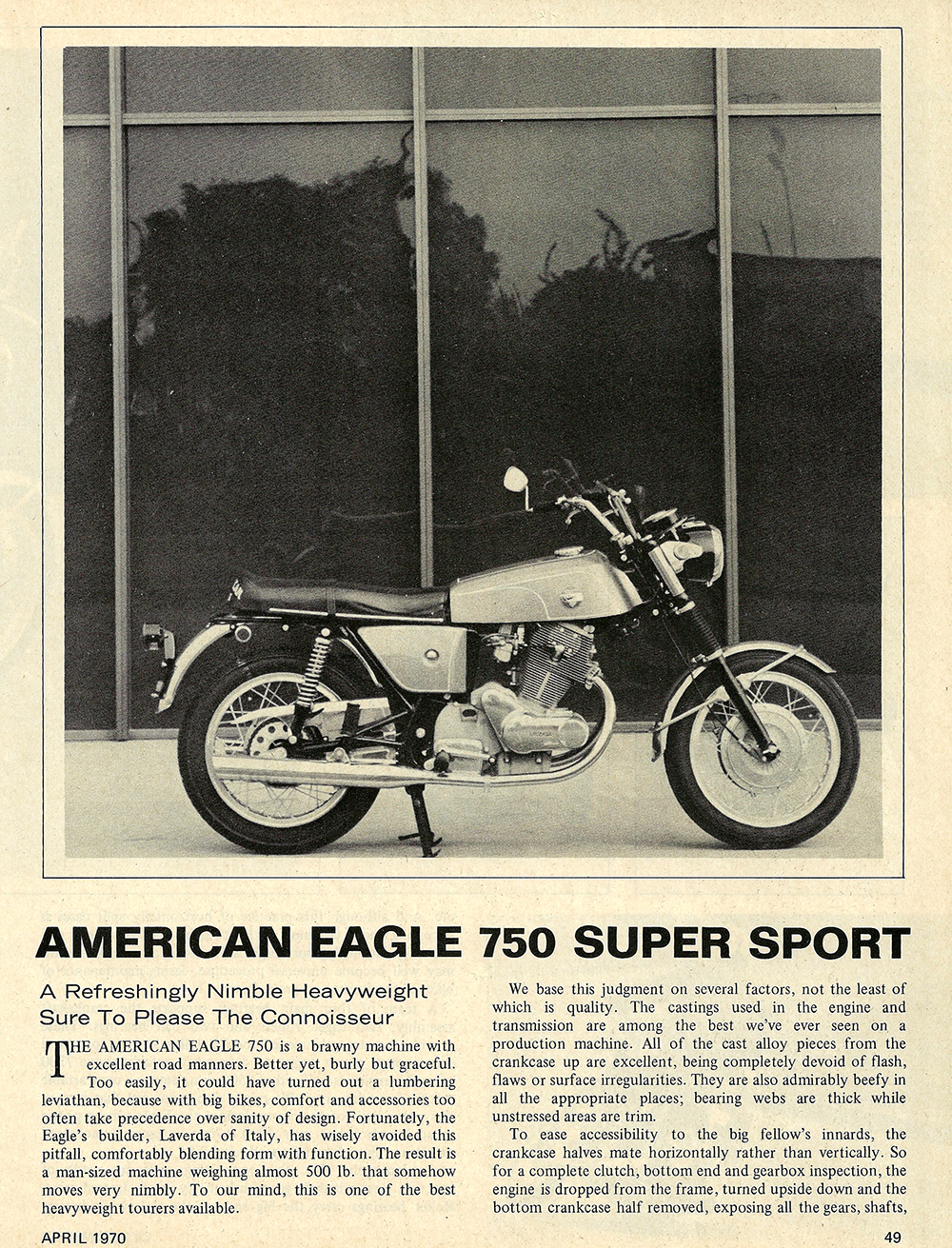1970 American Eagle 750 SS road test 01.jpg