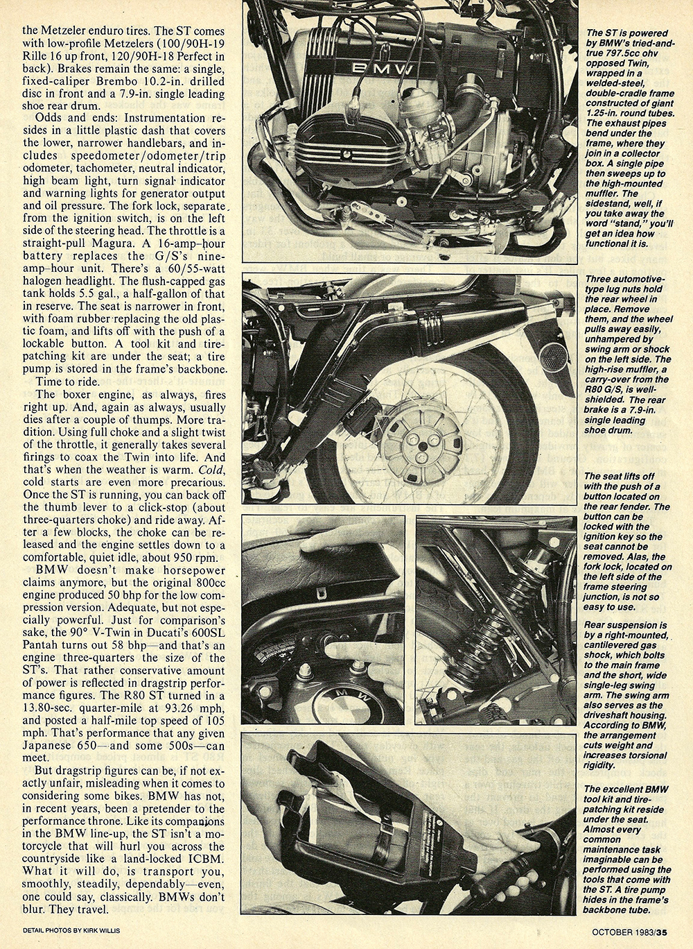 1983 BMW R80ST road test — Ye Olde Cycle Shoppe