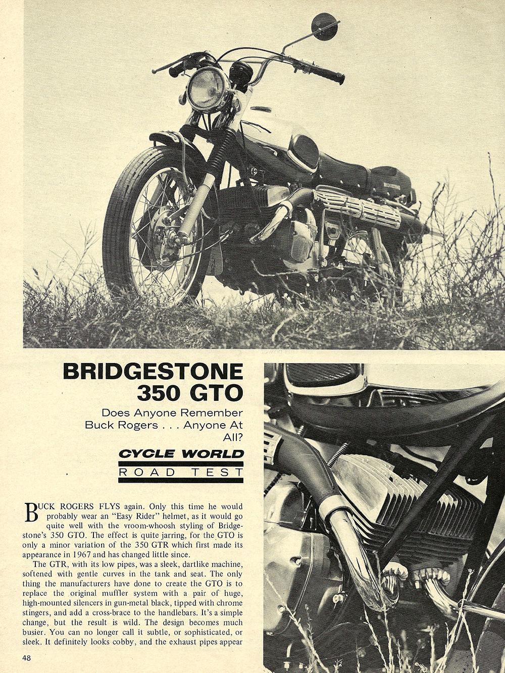 1970 Bridgestone 350 GTO scrambler road test 01.jpg