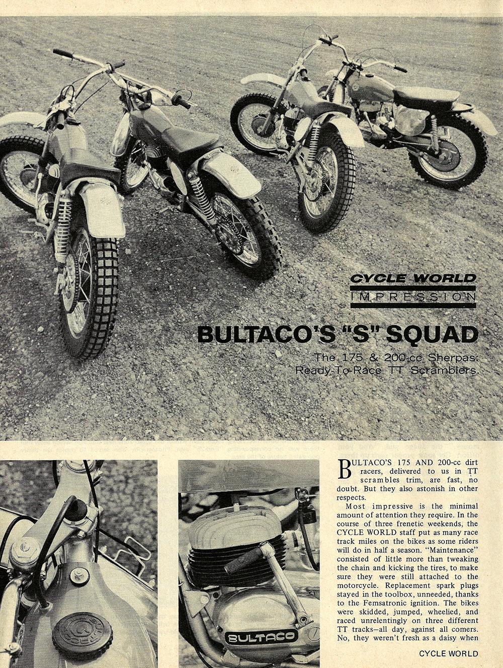 1970 Bultaco Sherpa 175 and 200 road test 01.jpg