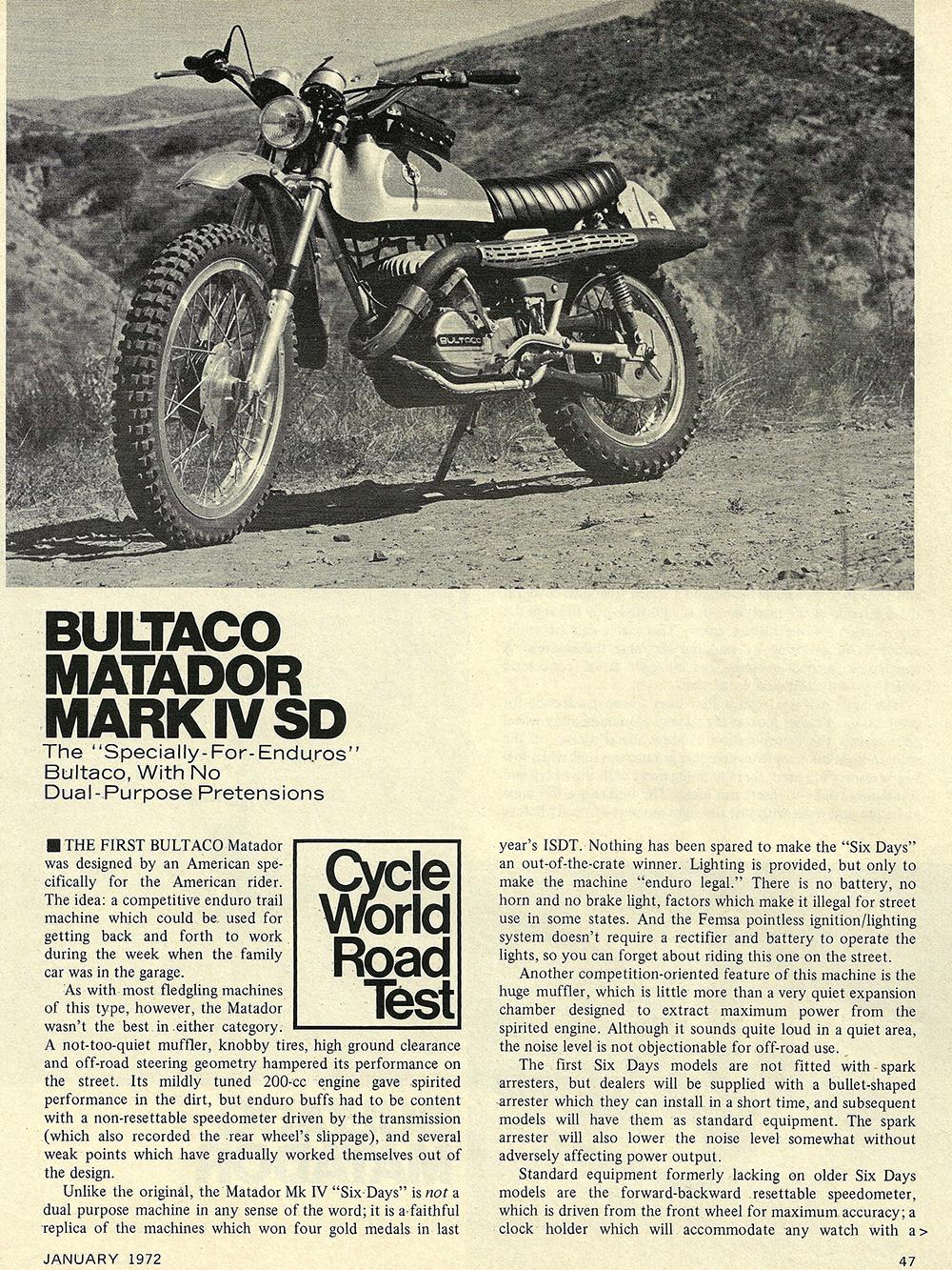 1972 Bultaco Matador Mark 4 SD road test 02.jpg