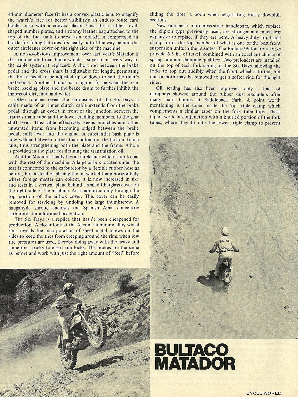 1972 Bultaco Matador Mark 4 SD road test 03.jpg