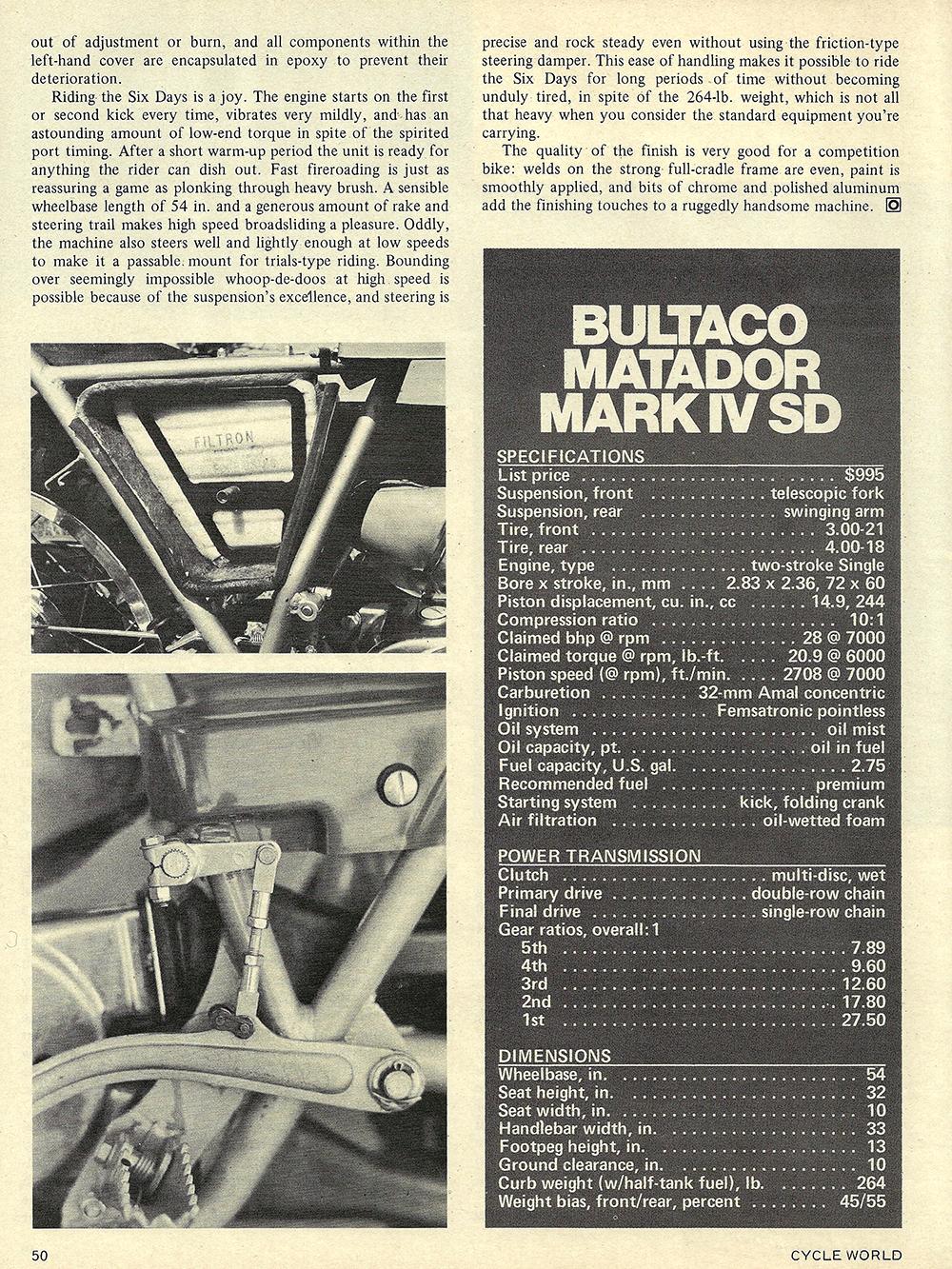 1972 Bultaco Matador Mark 4 SD road test 05.jpg