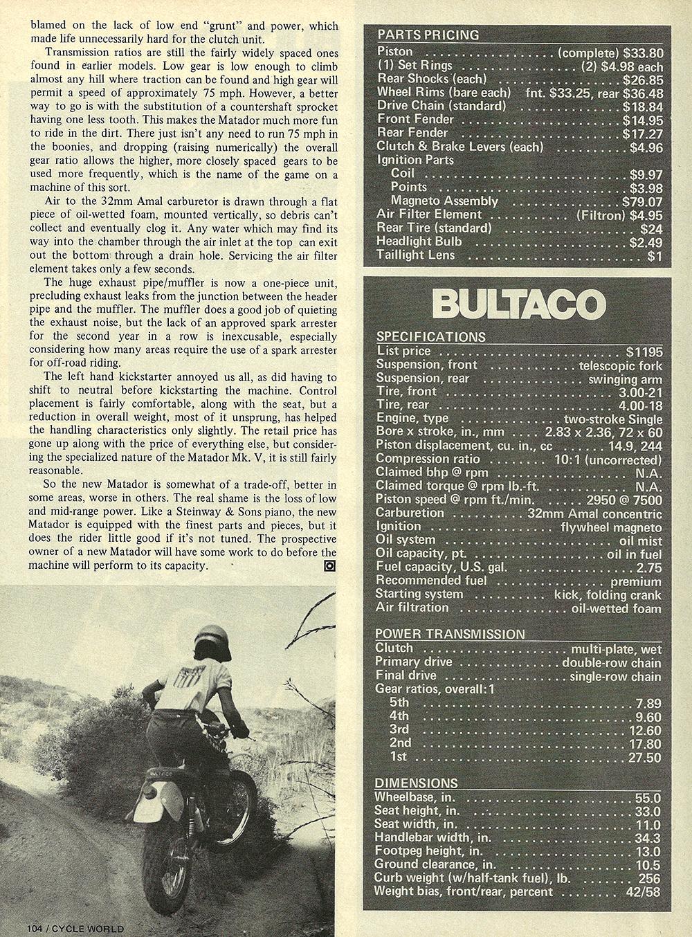 1974 Bultaco Matador 250 Mark 5 road test 05.jpg