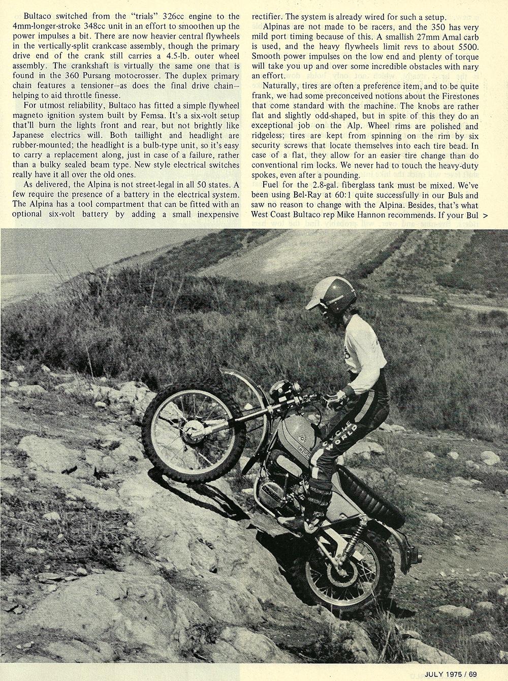 1975 Bultaco Alpina 350 road test 04.jpg