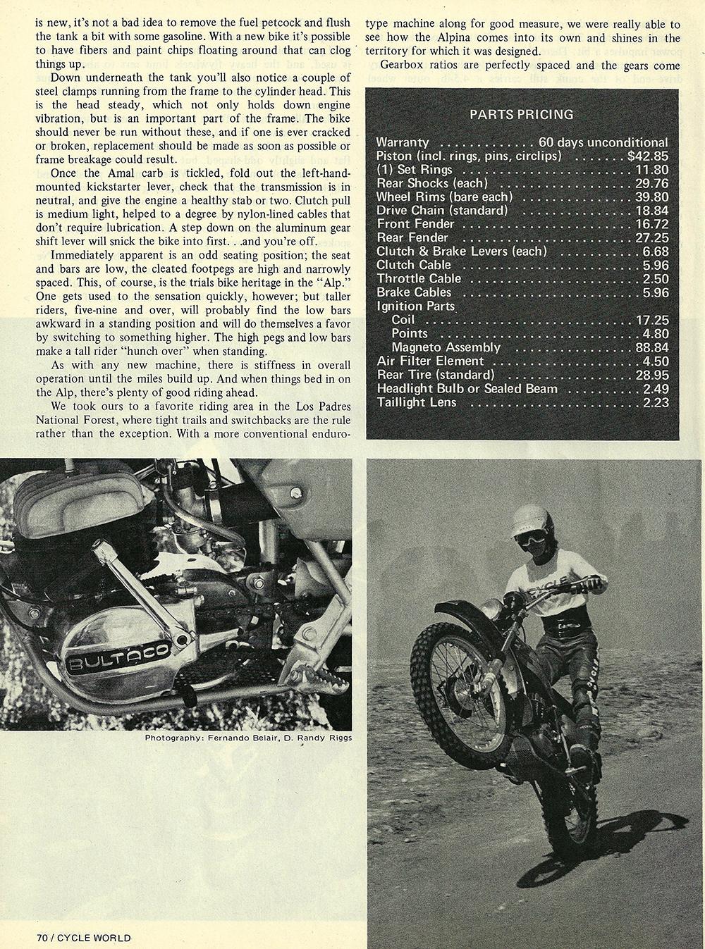 1975 Bultaco Alpina 350 road test 05.jpg