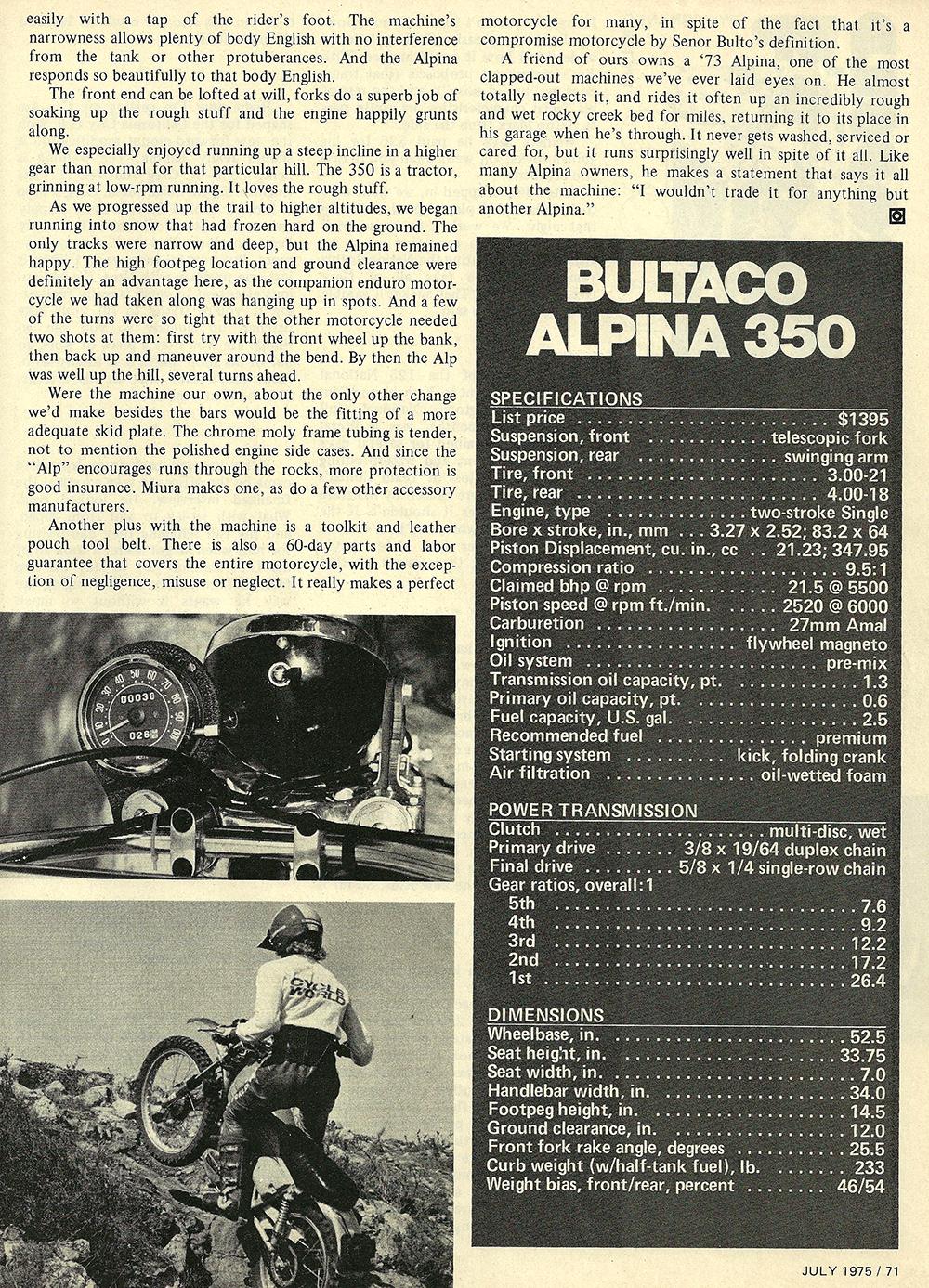 1975 Bultaco Alpina 350 road test 06.jpg