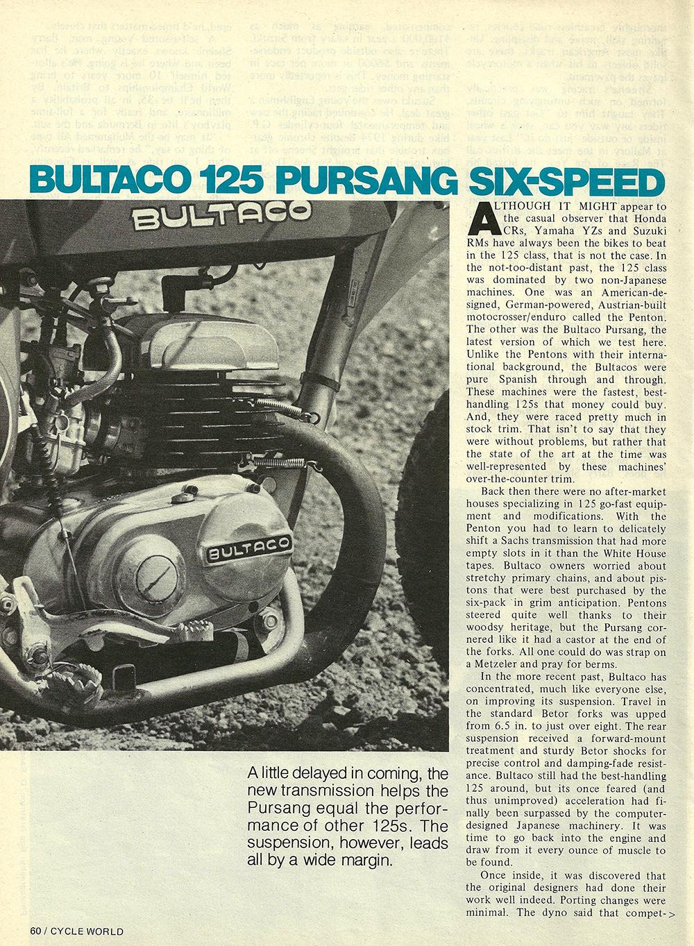 1976 Bultaco 125 Pursang road test 01.jpg