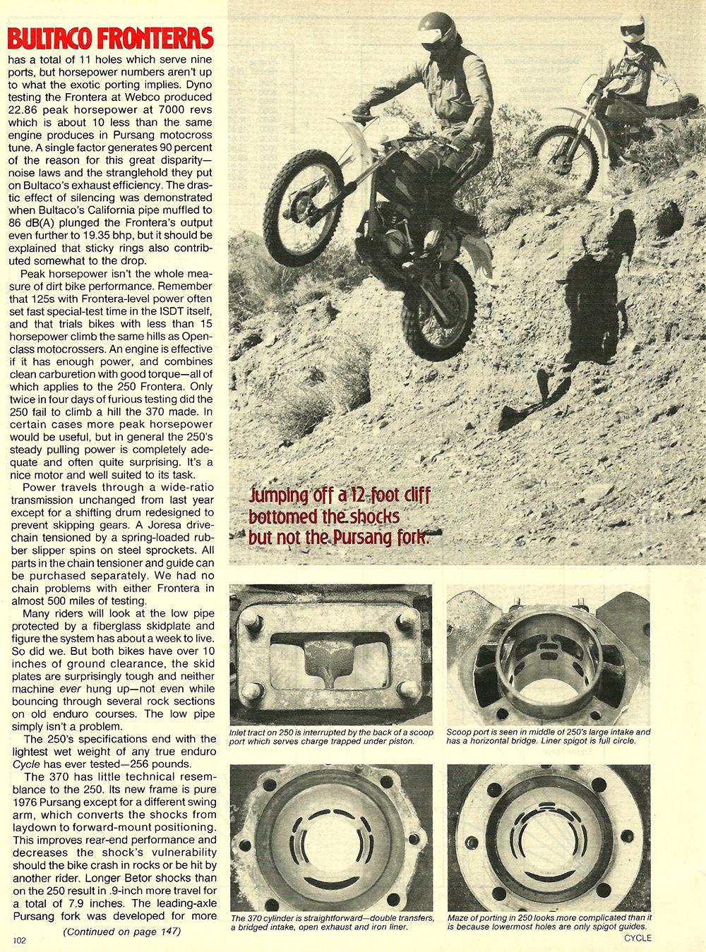 1977 Bultaco 250 and 380 Frontera road test 7.jpg