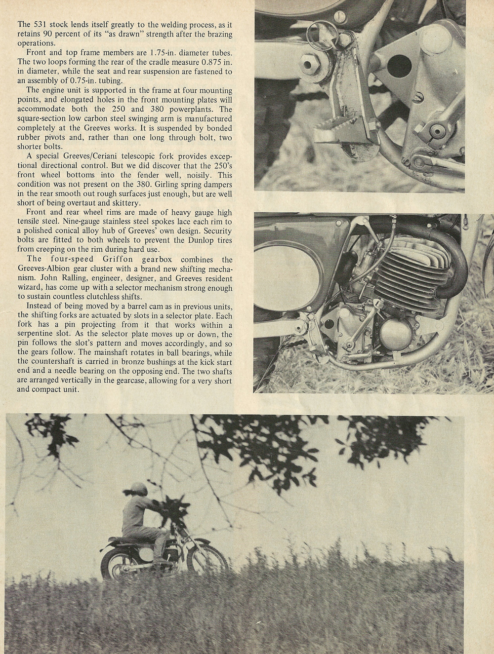 1969 Greeves Griffon 380 and 250 road test 2.jpg