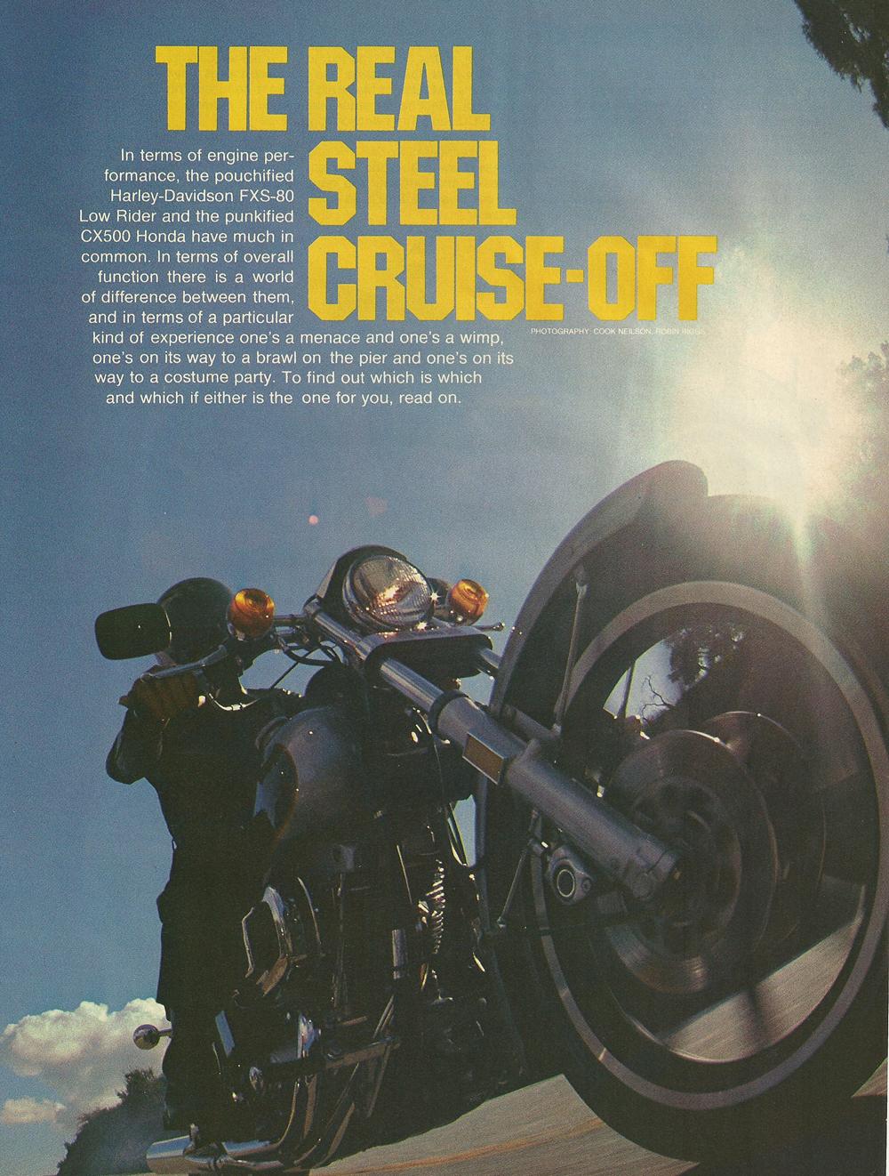 1979 Honda CX500 vs Harley FXS-80 Lowrider 1.jpg