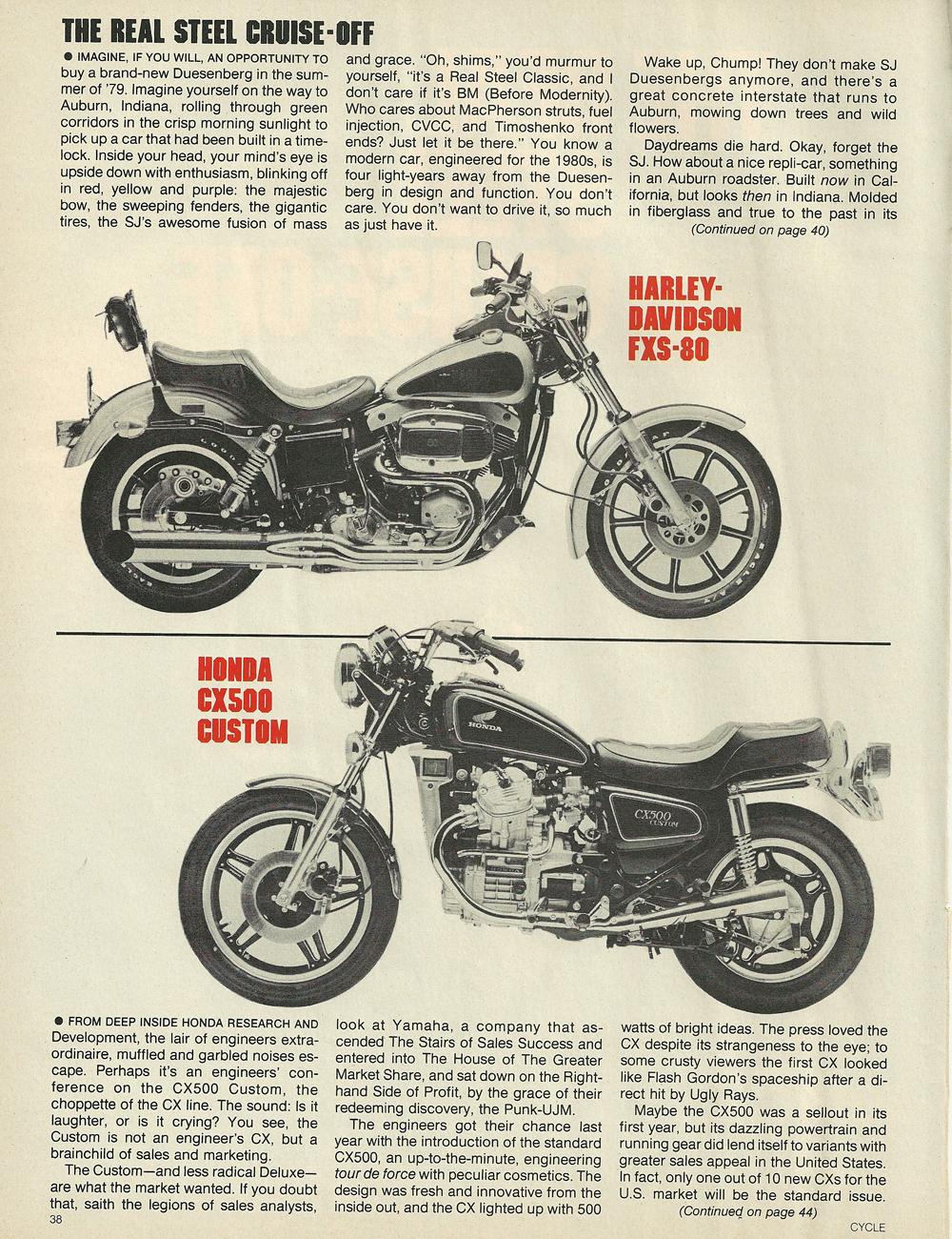1979 Honda CX500 vs Harley FXS-80 Lowrider 2.jpg