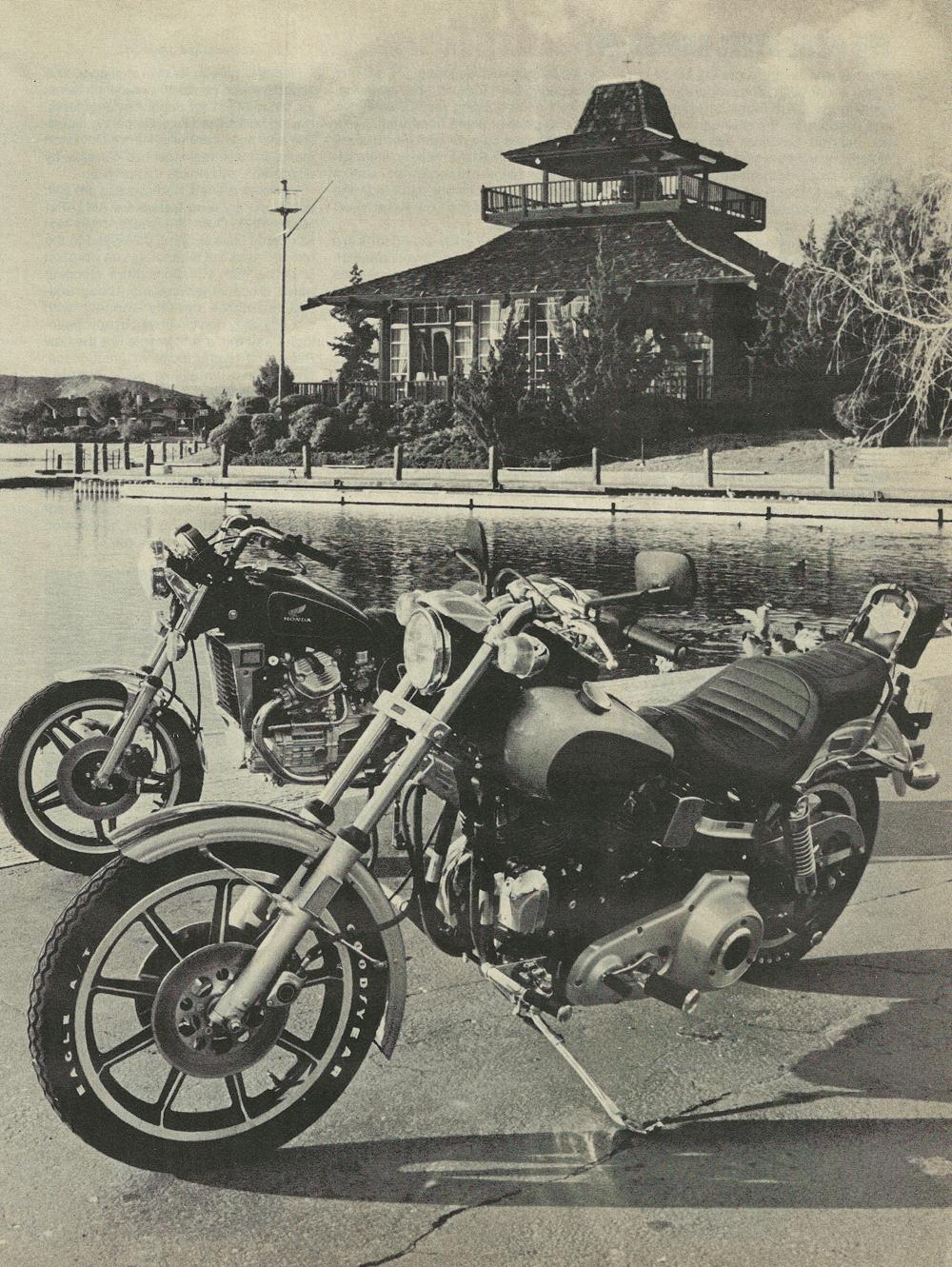 1979 Honda CX500 vs Harley FXS-80 Lowrider 4.jpg