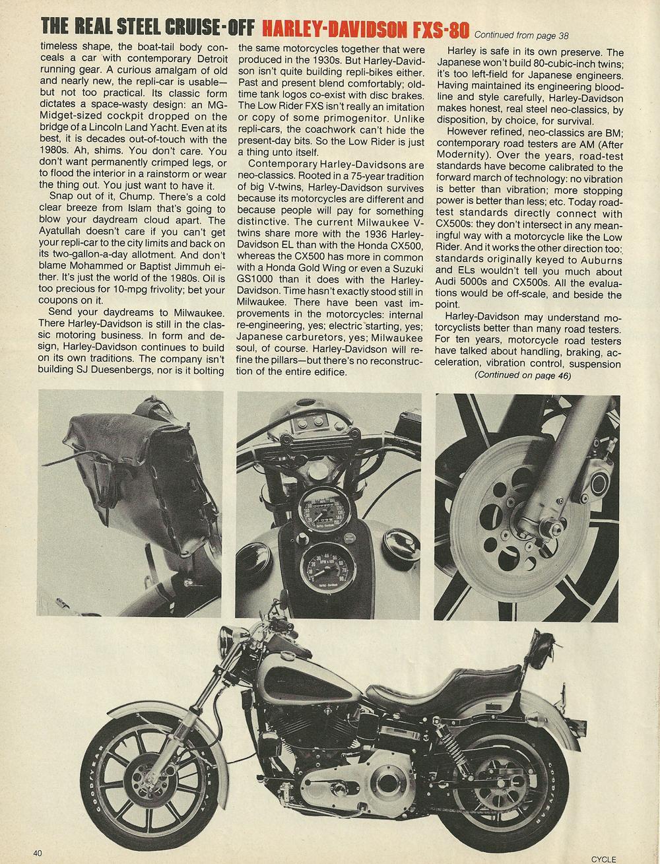 1979 Honda CX500 vs Harley FXS-80 Lowrider 5.jpg