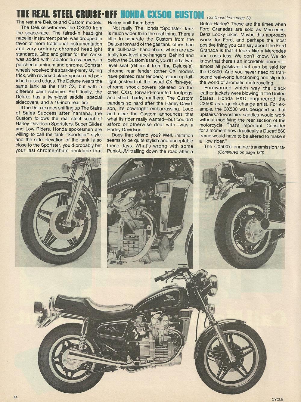 1979 Honda CX500 vs Harley FXS-80 Lowrider 6.jpg