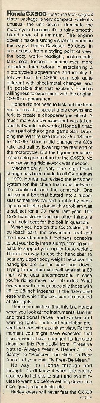 1979 Honda CX500 vs Harley FXS-80 Lowrider 8.jpg