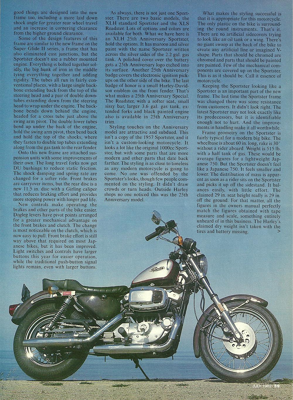 1982 Harley Davidson XLS Sportster 25th road test 02.jpg