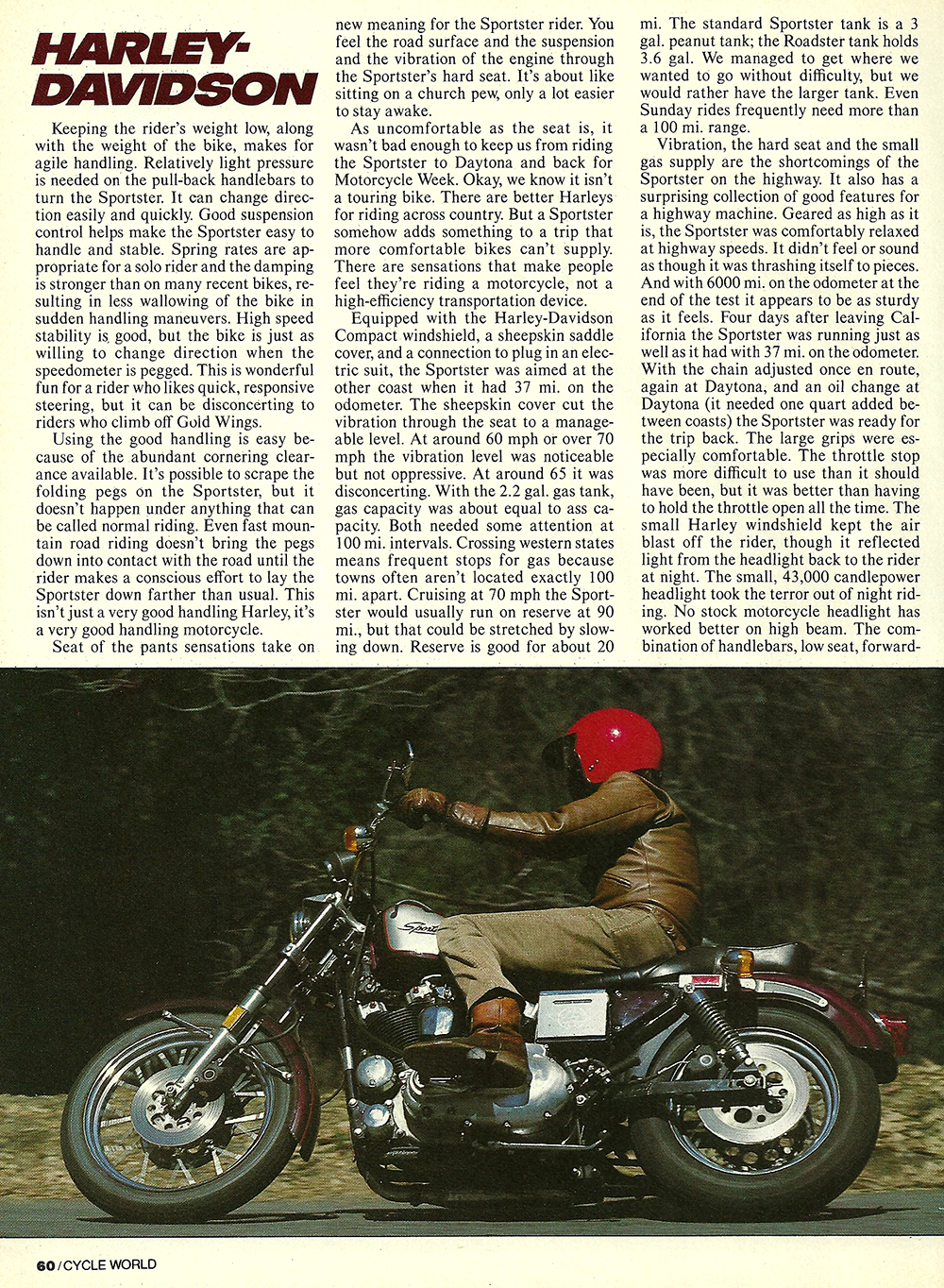1982 Harley Davidson XLS Sportster 25th road test 03.jpg