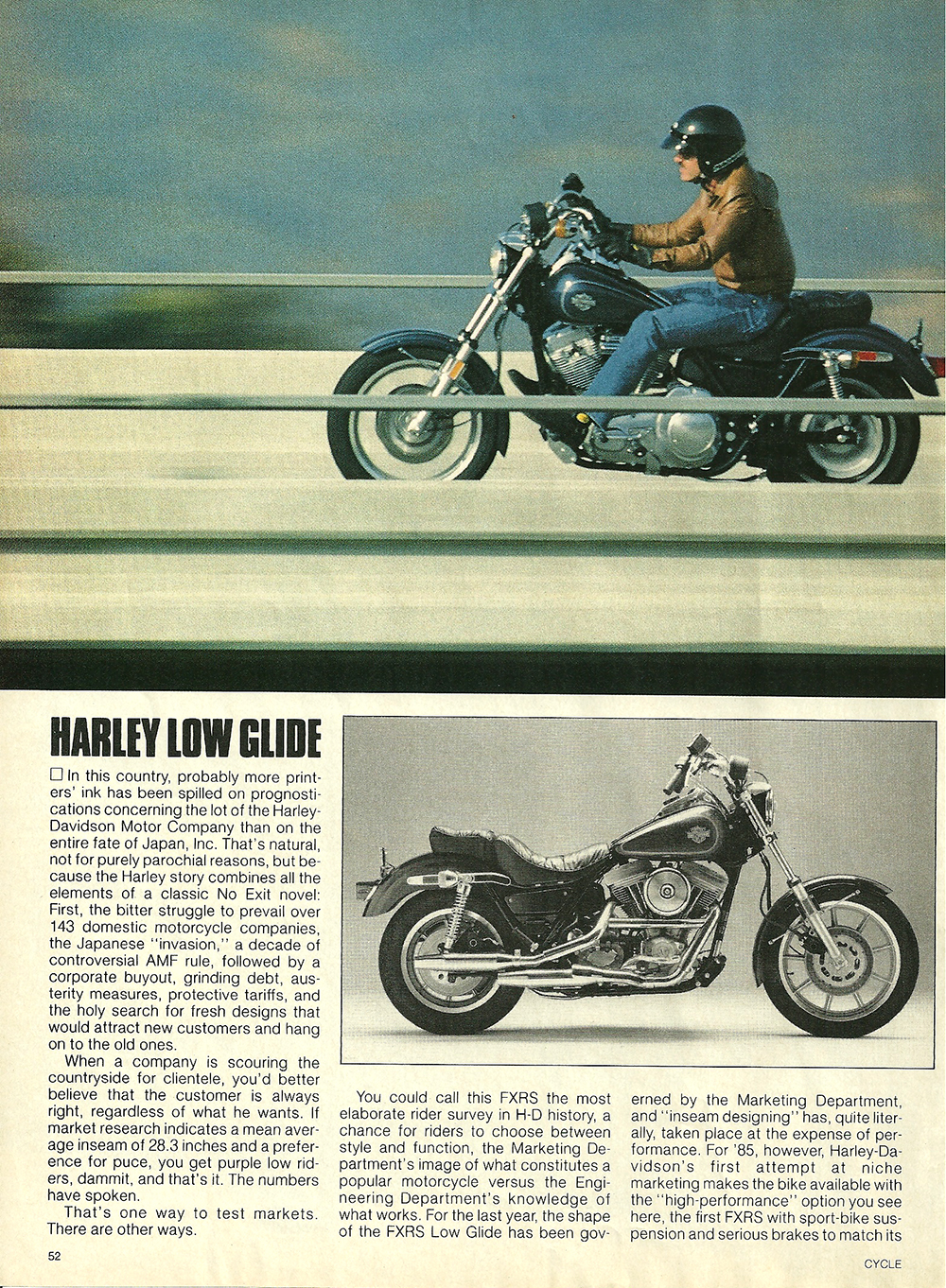 1984 Harley-Davidson Low Glide FXRS road test 3.jpg
