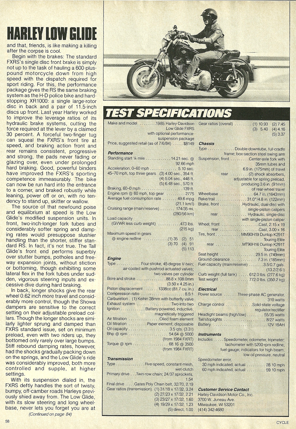 1984 Harley-Davidson Low Glide FXRS road test 8.jpg