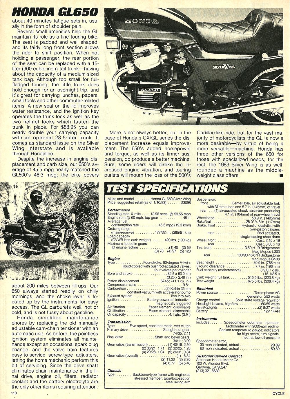 1983 Honda GL650 Silver Wing road test 7.jpg