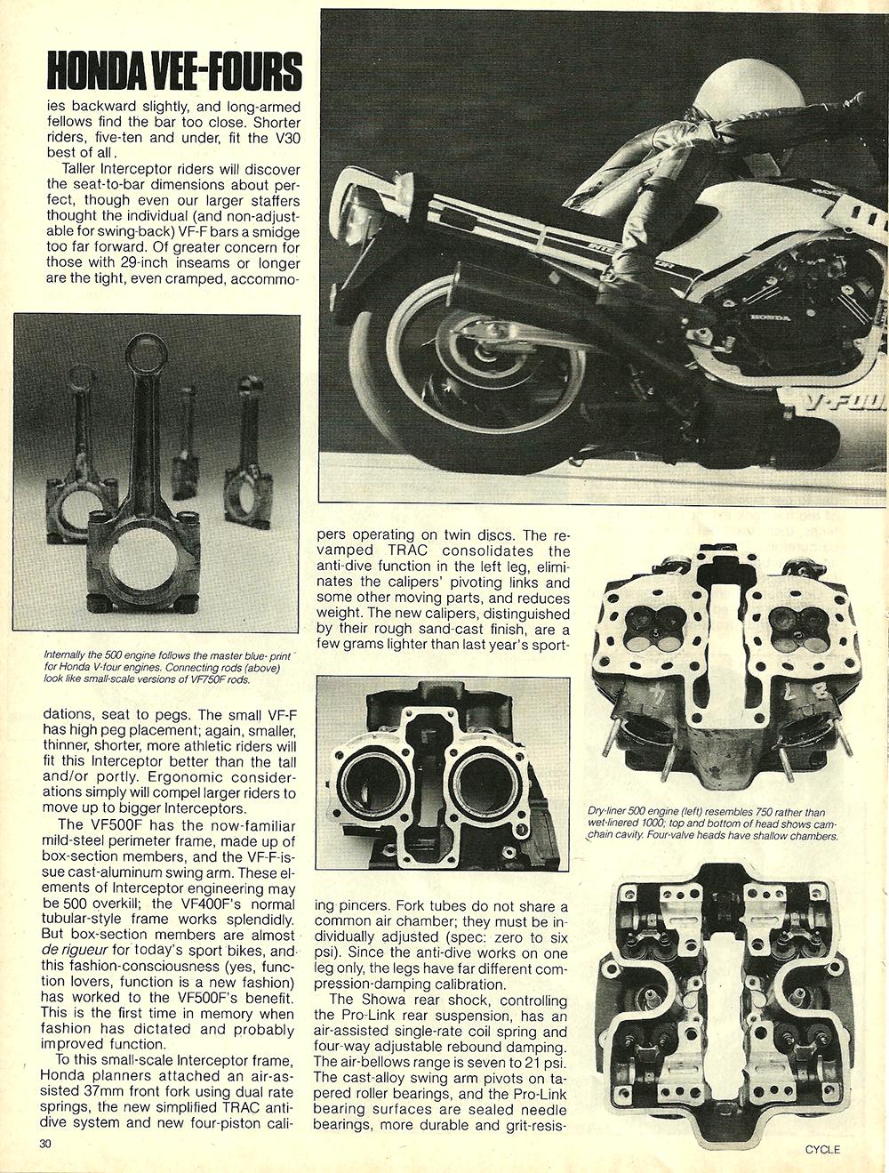 1984 Honda V30 Magna and VF500F Interceptor road test 07.jpg
