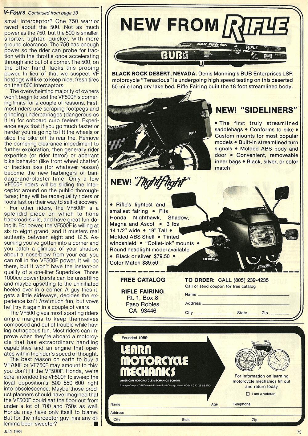 1984 Honda V30 Magna and VF500F Interceptor road test 11.jpg