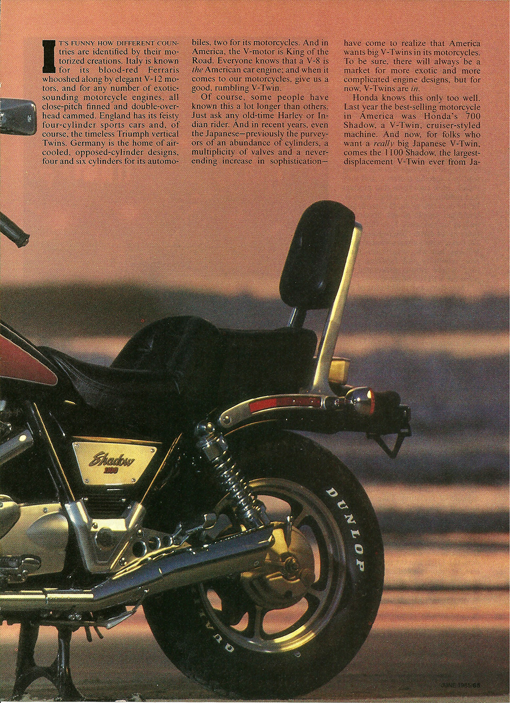 1985 Honda VT1100 Shadow road test 02.jpg