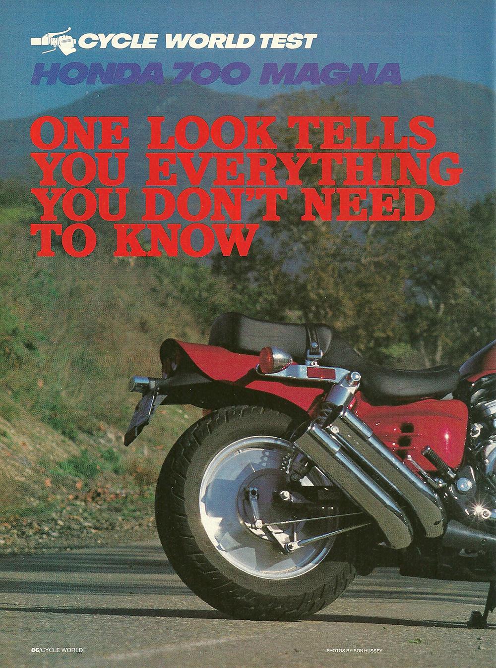 1987 Honda 700 Magna road test 01.jpg