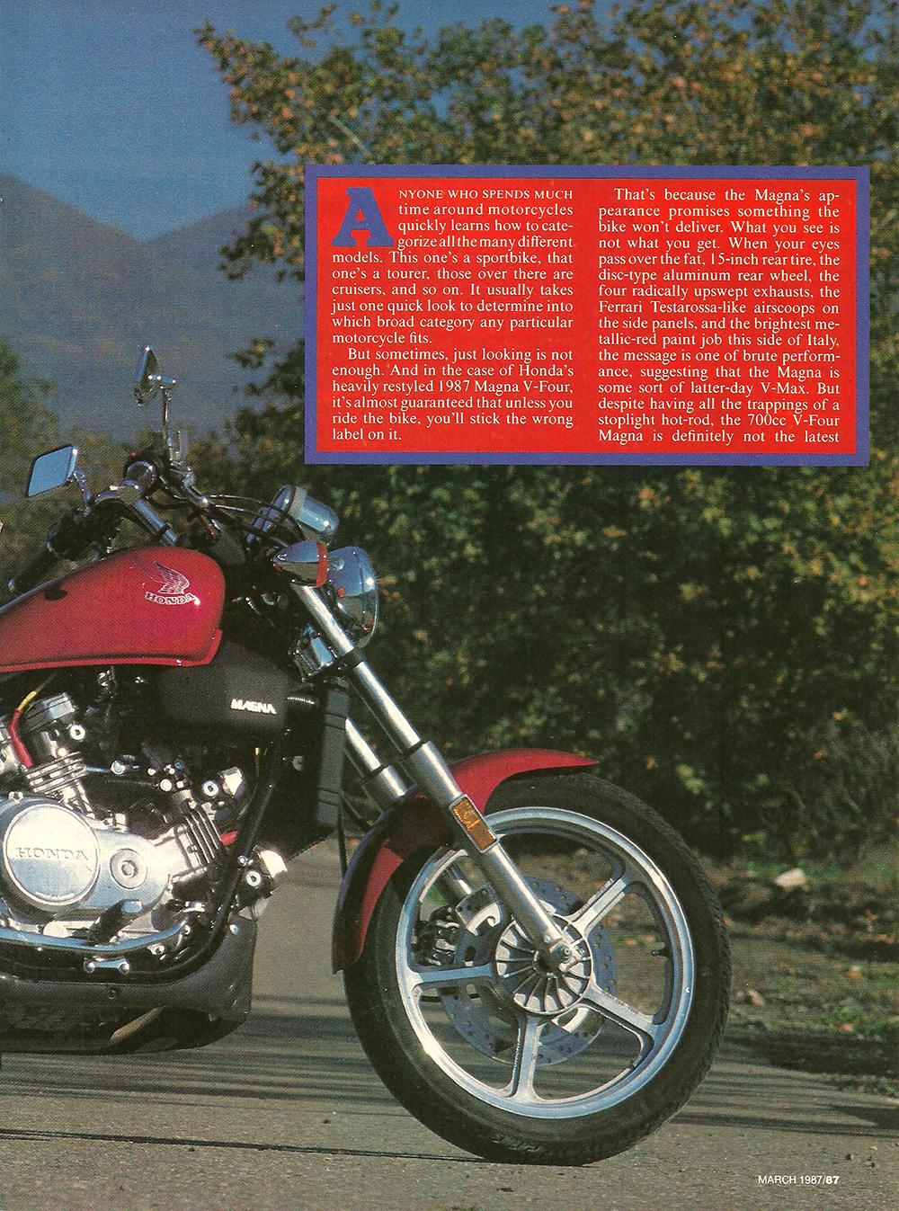 1987 Honda 700 Magna road test 02.jpg