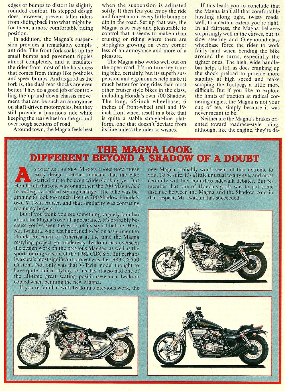 1987 Honda 700 Magna road test 04.jpg