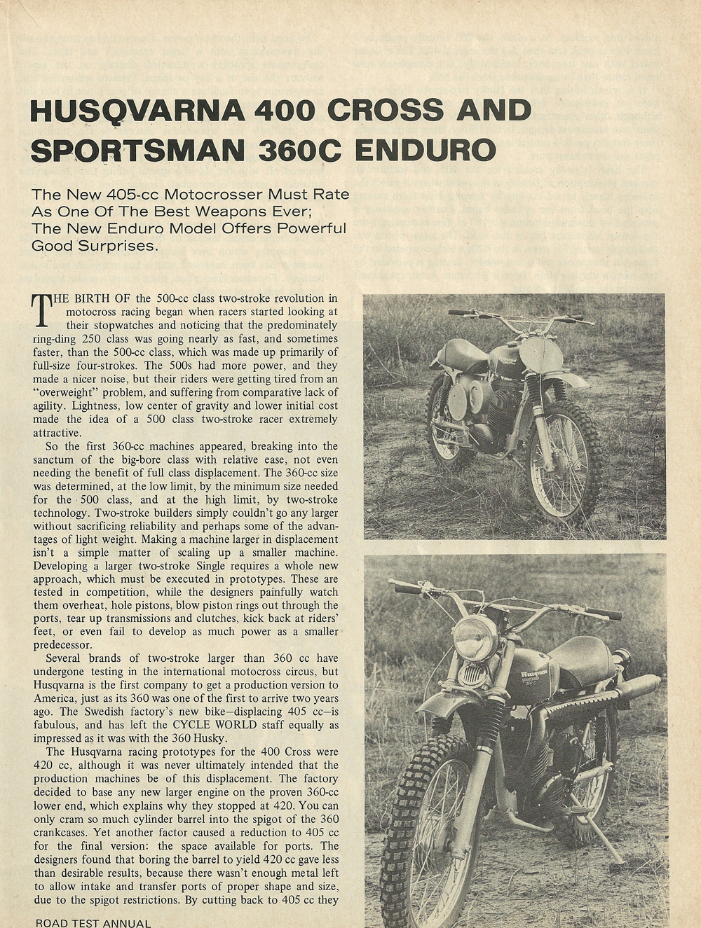 1969 Husqvarna 400 Cross and Sportsman 360C Enduro road test 2.jpg