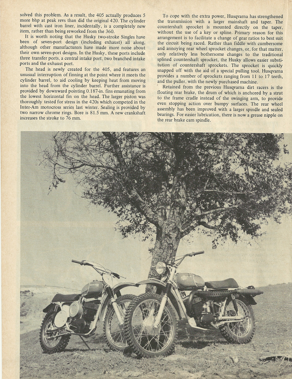 1969 Husqvarna 400 Cross and Sportsman 360C Enduro road test 3.jpg