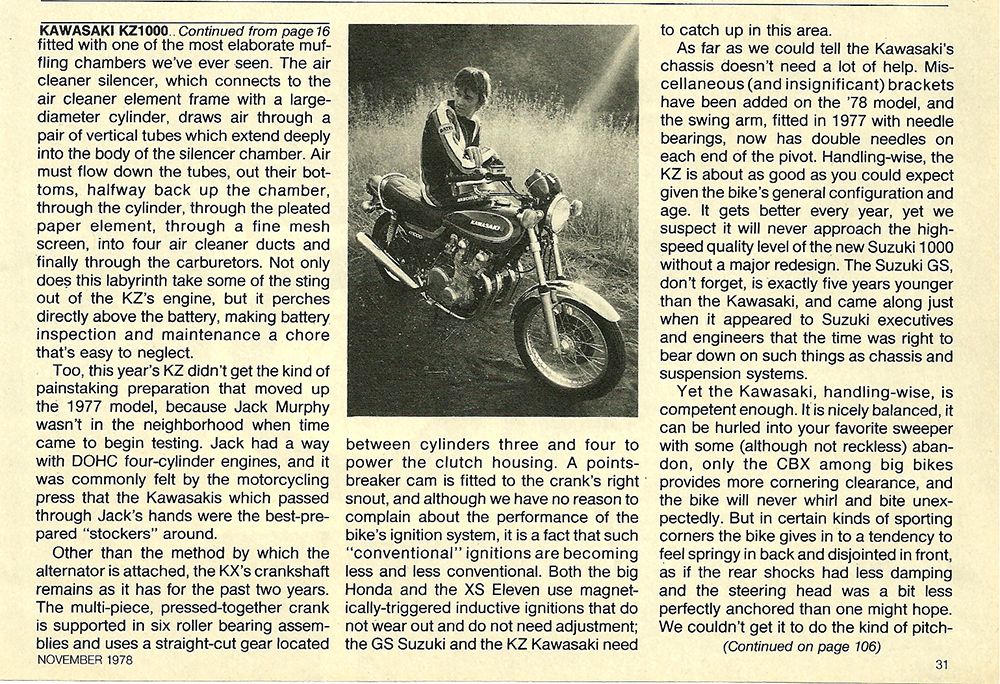 1978 Kawasaki KZ1000 road test 06.jpg