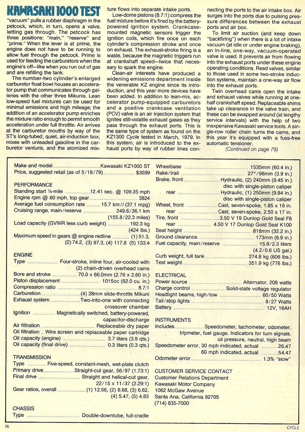 1979 Kawasaki KZ1000 ST road test 05.jpg