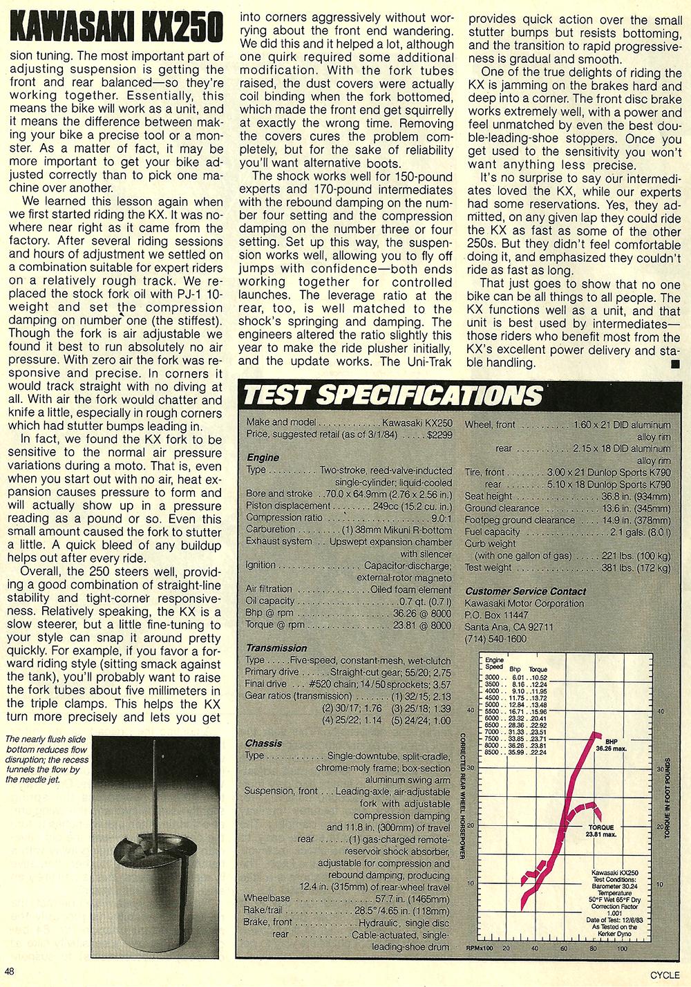 1984 Kawasaki KX250 road test 7.jpg