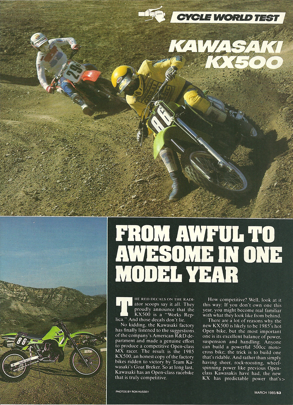 1985 Kawasaki KX500 road test 02.jpg
