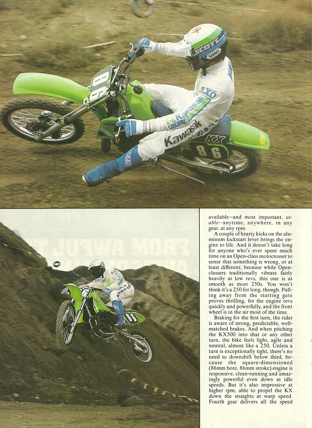 1985 Kawasaki KX500 road test 03.jpg