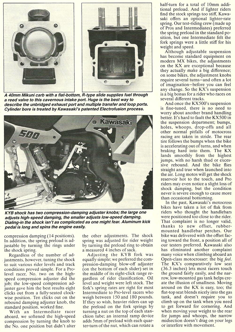 1985 Kawasaki KX500 road test 05.jpg