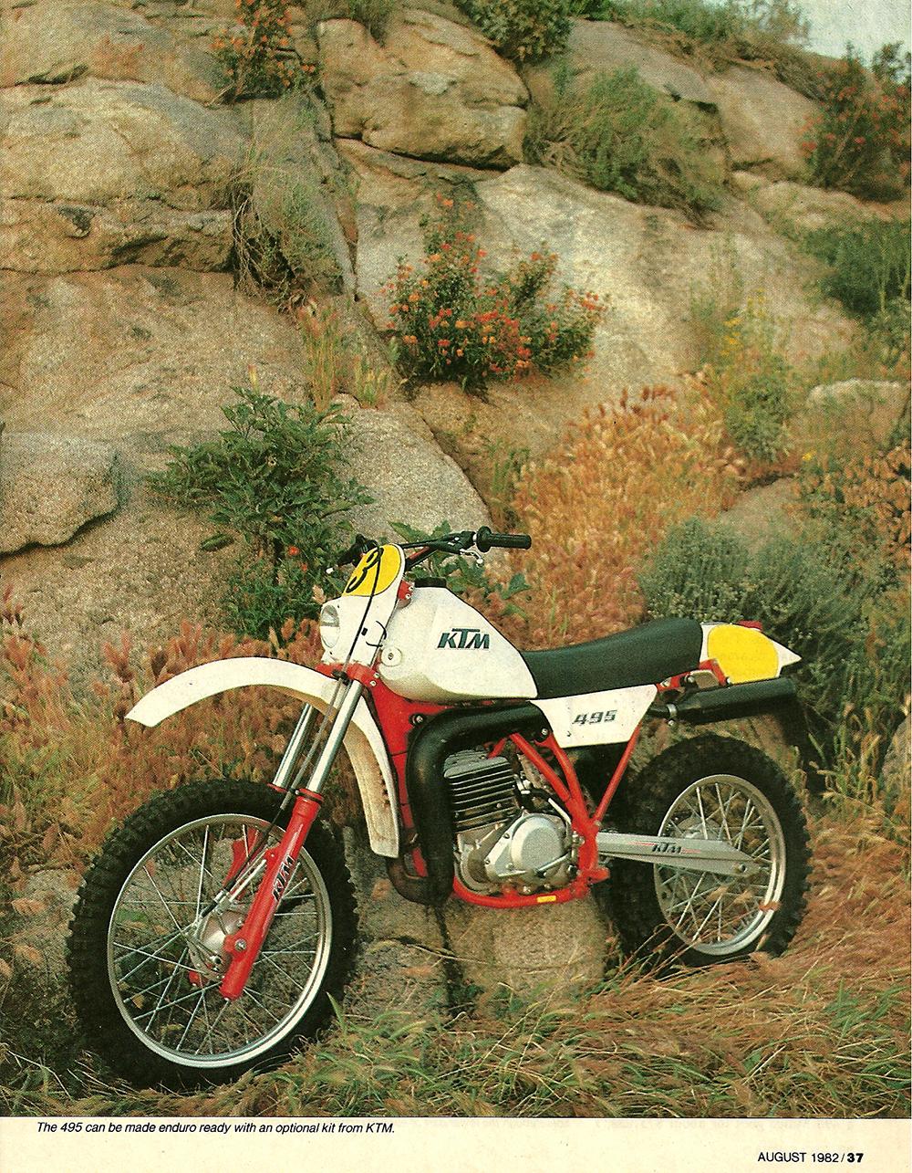 1982 KTM 495 Pro-Lever road test 04.jpg