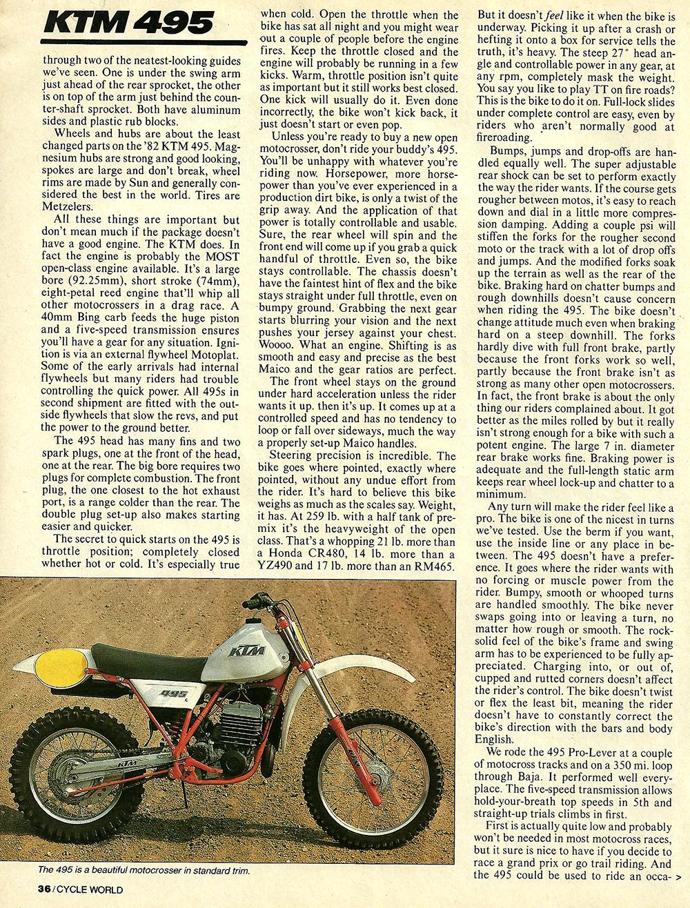 1982 KTM 495 Pro-Lever road test 03.jpg