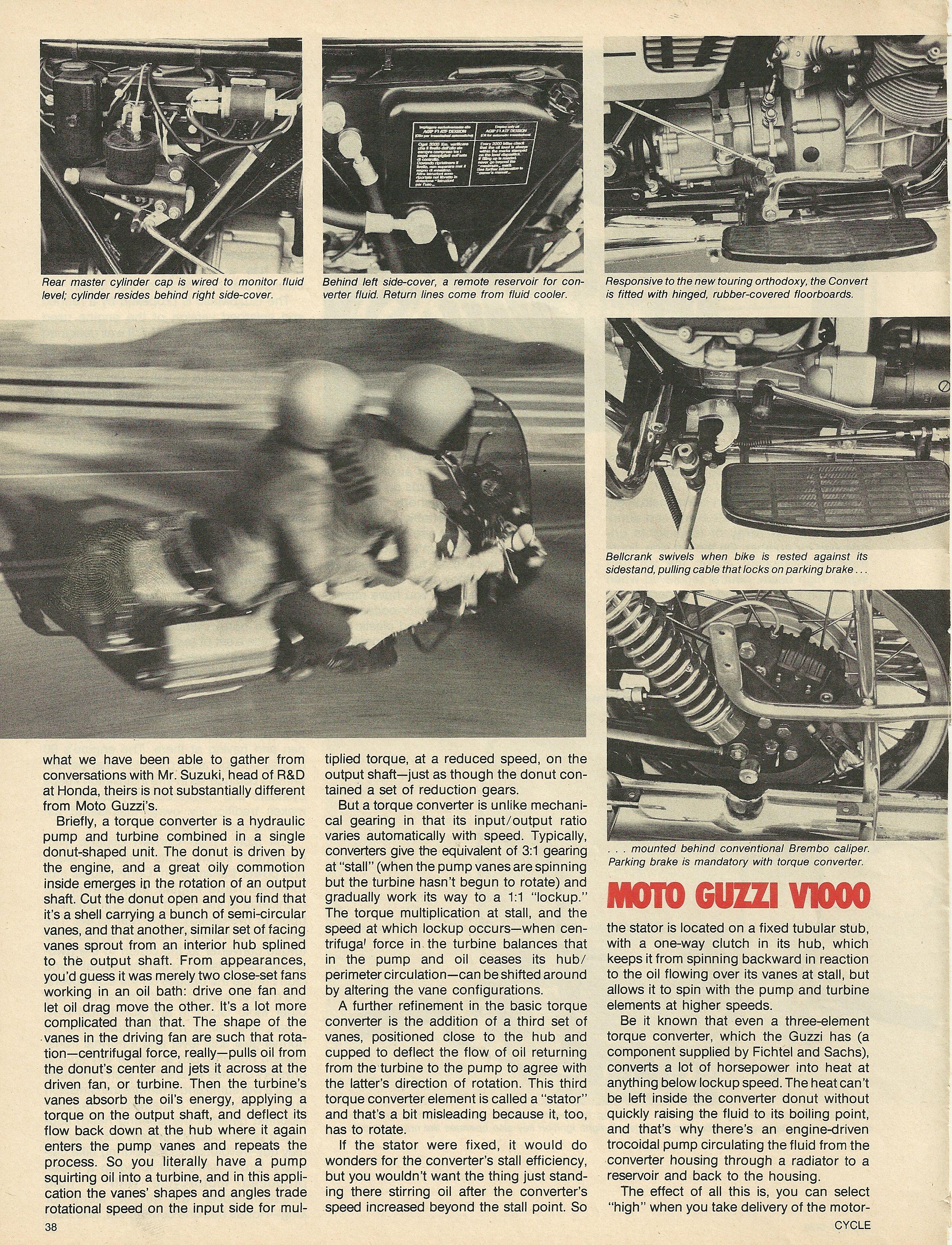 1976 Moto Guzzi V1000 Convert road test 3.JPG