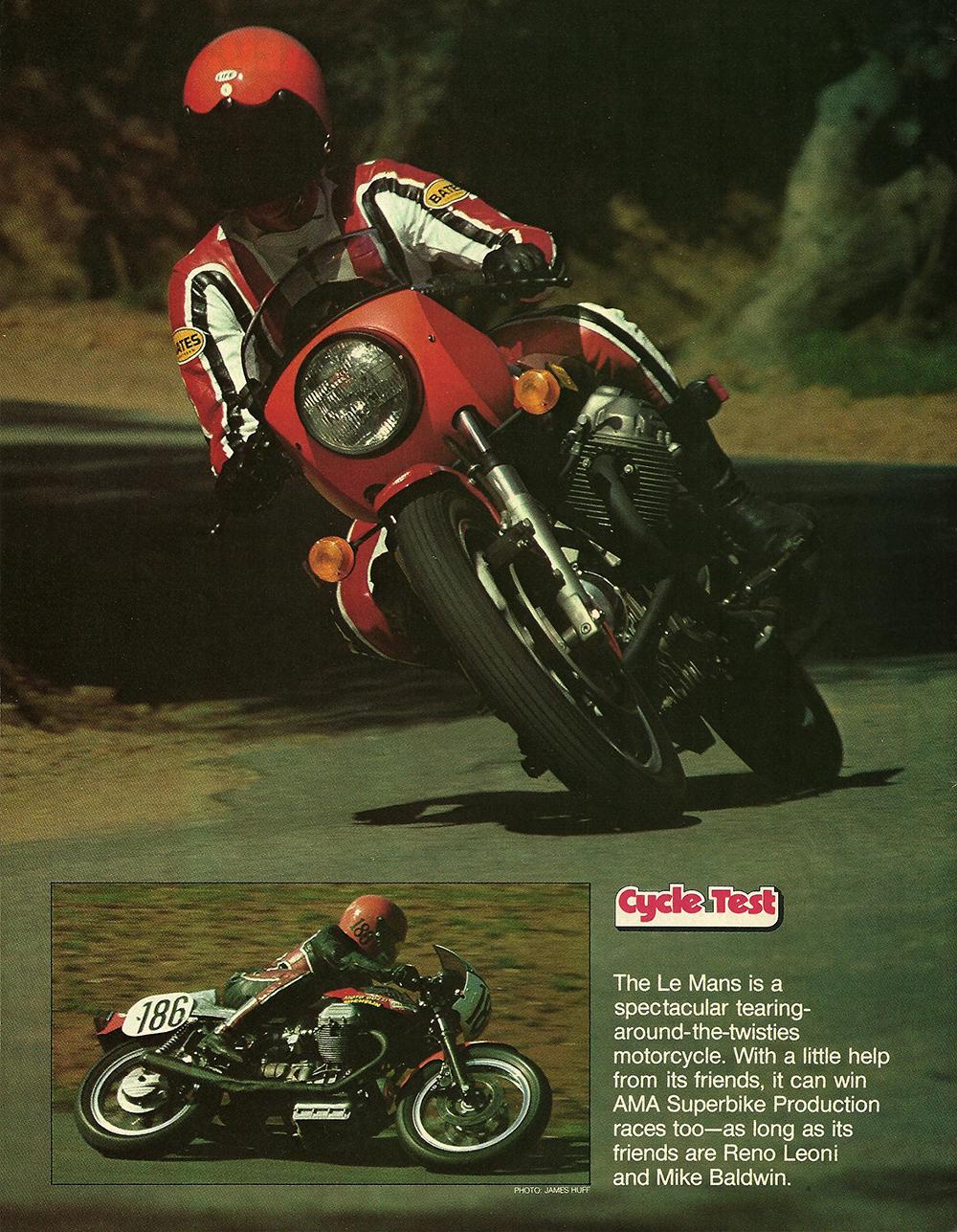 1977 Moto Guzzi 850 LeMans road test 01.jpg