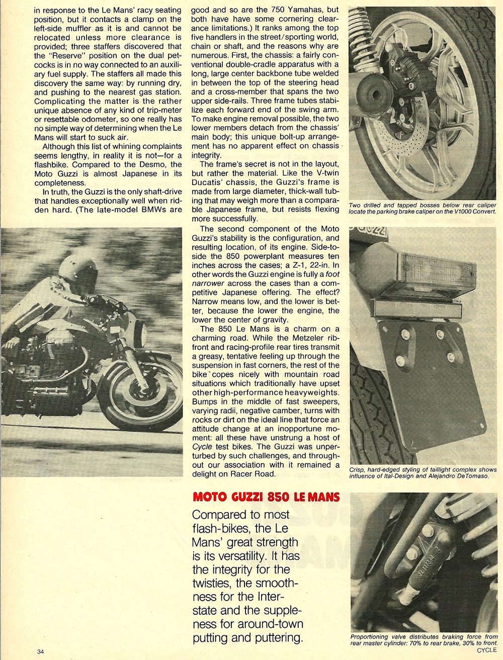 1977 Moto Guzzi 850 LeMans road test 03.jpg