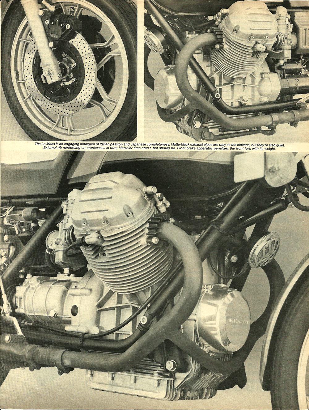 1977 Moto Guzzi 850 LeMans road test 04.jpg