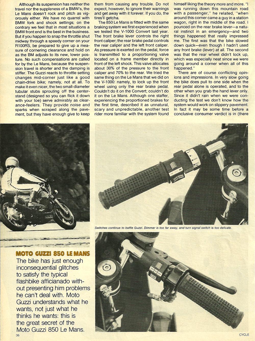 1977 Moto Guzzi 850 LeMans road test 05.jpg