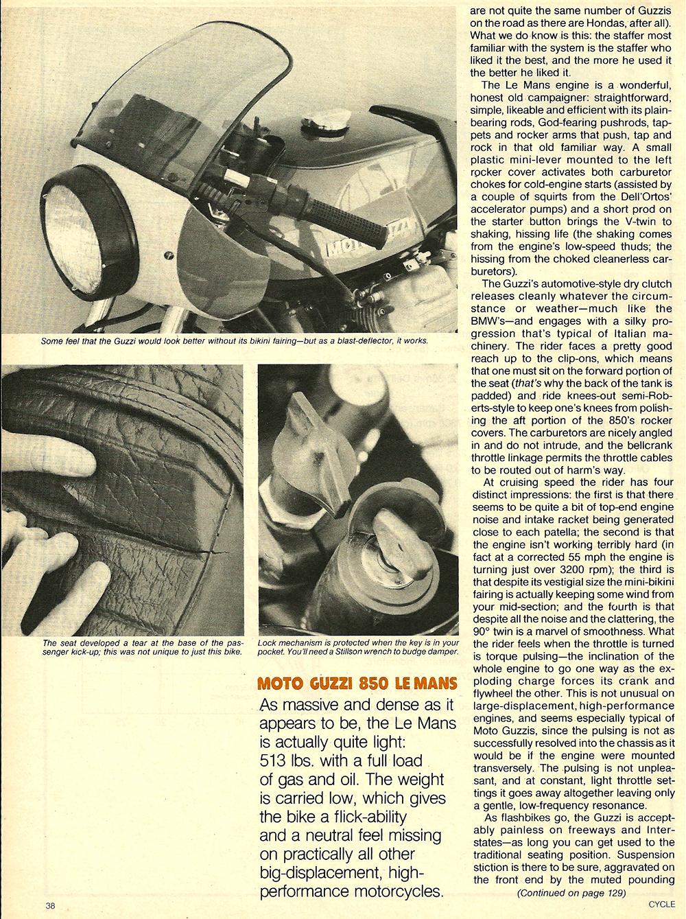 1977 Moto Guzzi 850 LeMans road test 07.jpg